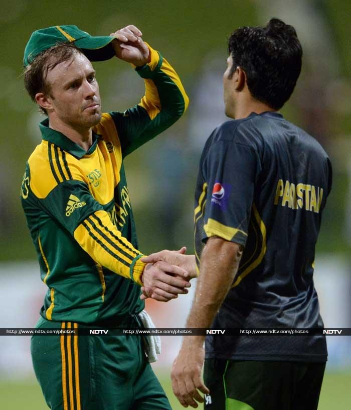 South Africa cruised on some superb performances with bat and ball to overpower Pakistan in the fourth match of the bi-lateral series. With just one match left, SA maintain their record of having never lost a bilateral contest with Pakistan. <br><br> Images courtesy: AFP