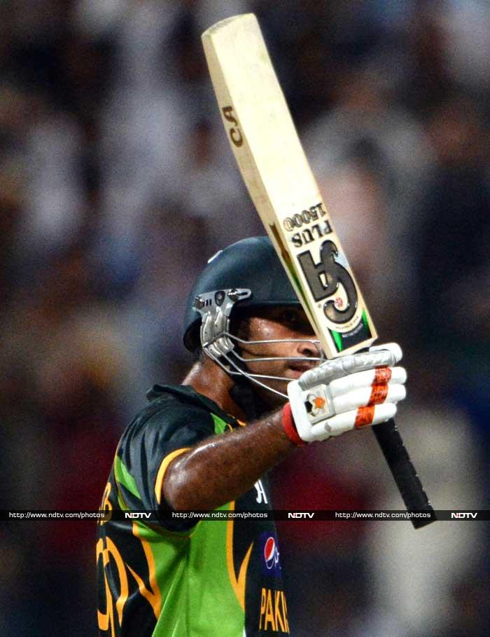 In reply, Pakistan innings was solid with Sohaib Maqsood hitting a half-century.