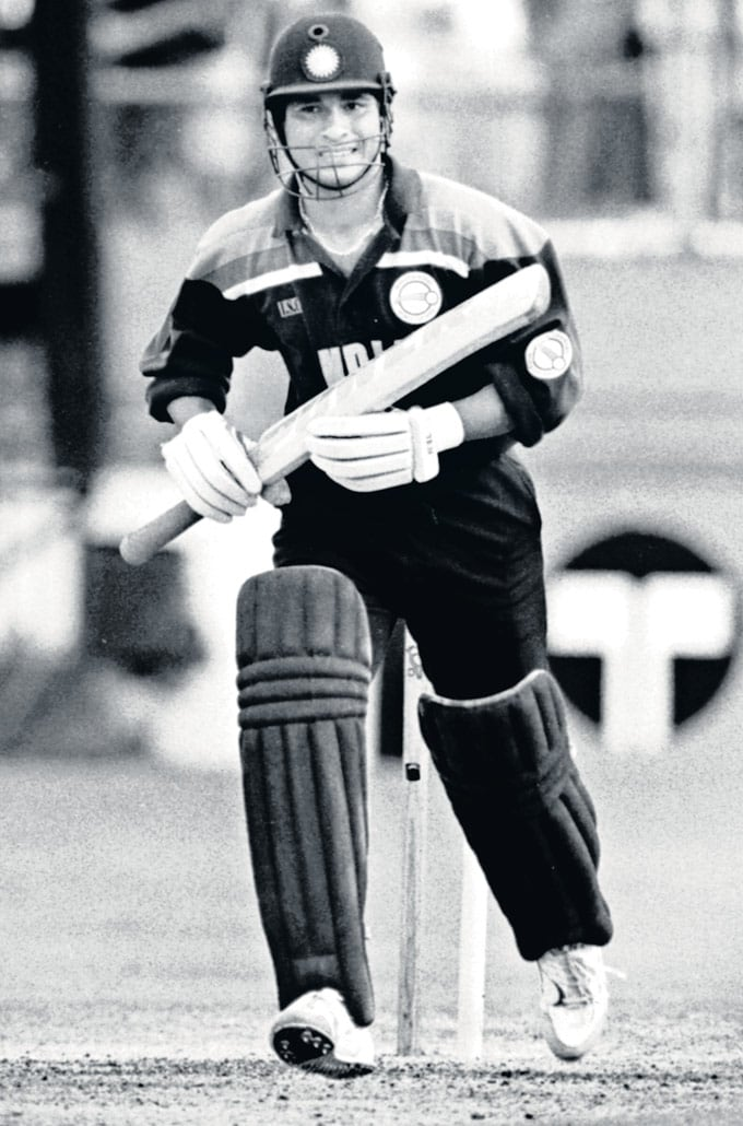 "... Against Australia in Brisbane in the 1992 World Cup. (Photo: <a href=""http://www.mid-day.com//""> Mid-Day.com)</a>"