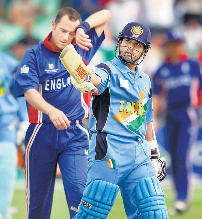 "... Against England at Kingsmead, Durban in the 2003 World Cup. (Photo: <a href=""http://www.mid-day.com//""> Mid-Day.com)</a>"