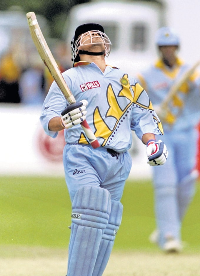 "... Against Kenya in Bristol in the 1999 World Cup. (Photo: <a href=""http://www.mid-day.com//""> Mid-Day.com)</a>"