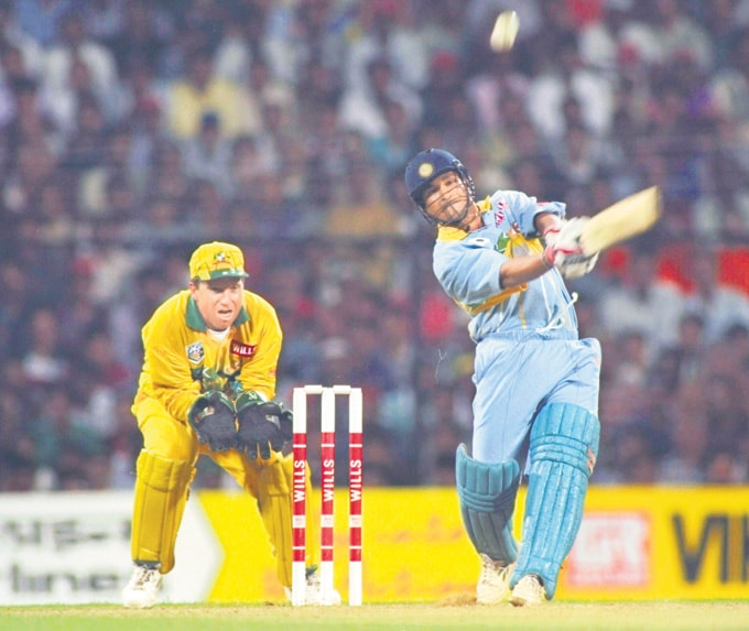 "... Against Australia in Mumbai in the 1996 World Cup. (Photo: <a href=""http://www.mid-day.com//""> Mid-Day.com)</a>"