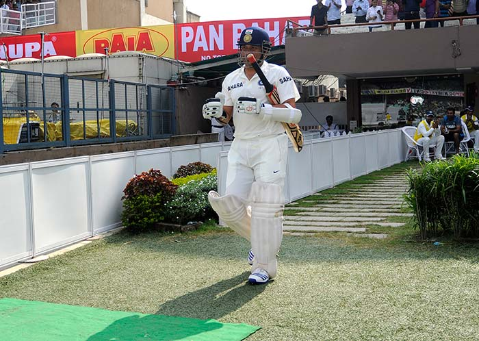 With his team in trouble right from the start on Day 2 vs West Indies' 234, Sachin Tendulkar walked in at No. 4.