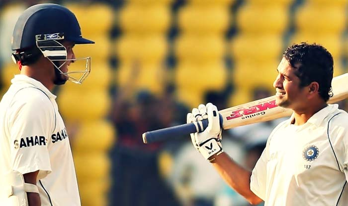 When Sachin broke Don Bradman's record to get 30th Test 100, Dada was at other end: 193 at Headingley.