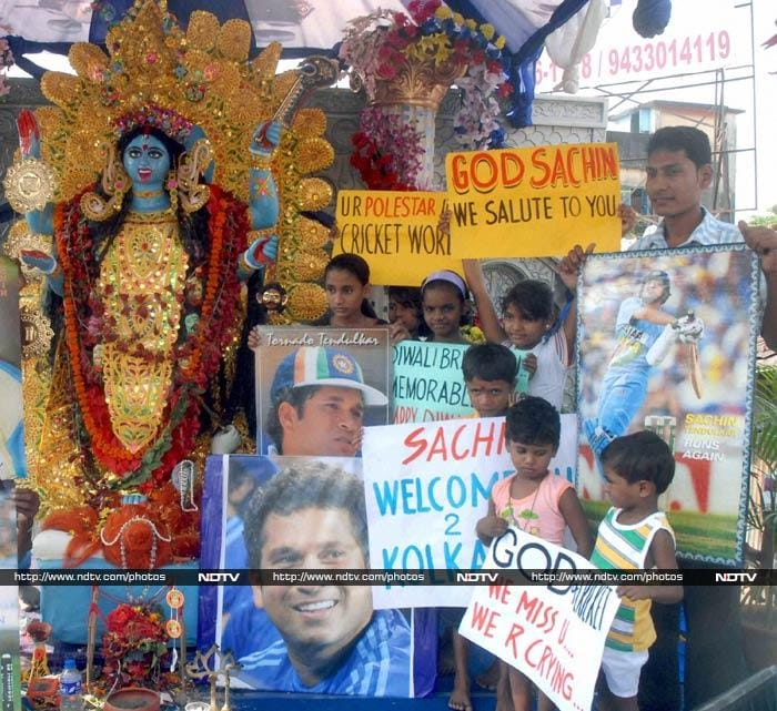 For Kolkata, festivities do not end with Diwali. In fact, the entire city is gearing up something even bigger and more grand - Sachin Tendulkar's penultimate Test!<br><br> Unprecedented and elaborate plans have been made to make the occasion memorable for both the legend as well as his countless fans.<br><br>All images courtesy PTI