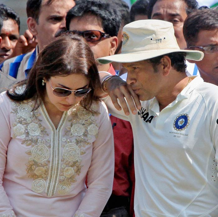 """Sachin also had a special message for his wife, Anjali.<br><br>""""You are the best partnership I have had in my life. Thanks for being there."""""""