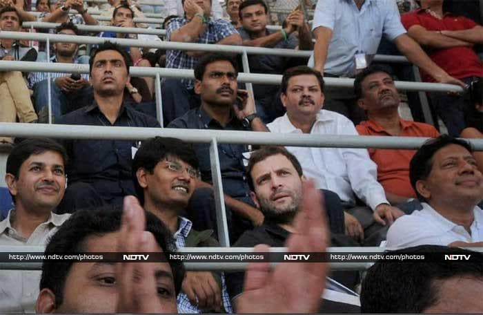 Amongst other high-profile guests here were Congress vice-president Rahul Gandhi.
