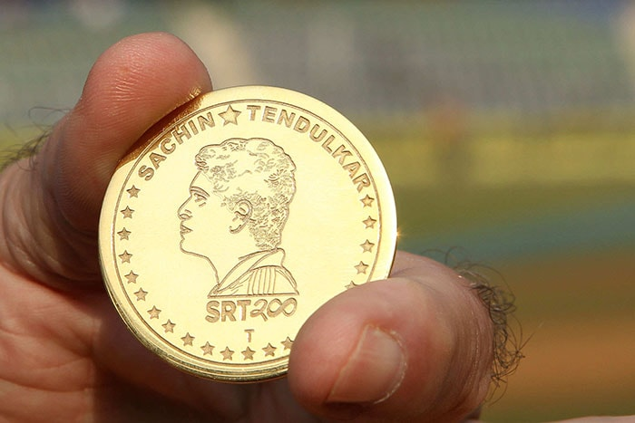 A special Sachin gold coin was also minted for the occasion and after the toss, it was presented to the legendary player.