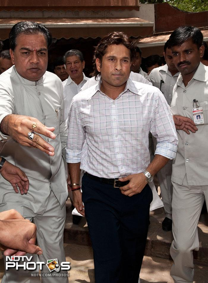 """When asked on how he would take time out of his busy cricket schedule, he said, """"I am a nominee. I did not go to anyone asking to be a Rajya Sabha member. It's an honour and I accept that with respect. But I am here because of my cricket. I can't take my focus away from cricket because that is where it all started for me."""" (AFP Photo)"""