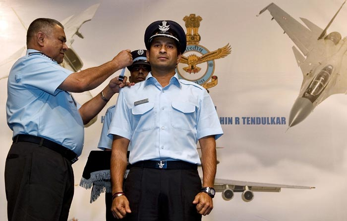 In September 2010, Sachin was conferred Indian Air Force's honorary rank of Group Captain. Tendulkar, the first sportsperson to be conferred this honour, is also the first person with no aviation background to have got this honour.