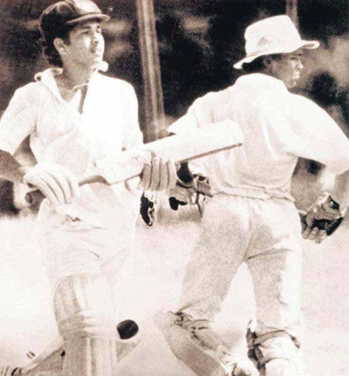 Sachin Tendulkar and Vinod Kambli when they put on a world-record partnership of 664 runs during an inter-school game in 1988. (Image Credit Mid-day.com)