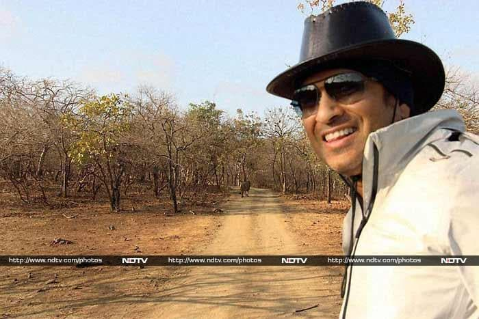 Sachin has taken several vacations with his family. Here, he is seen enjoying the wildlife of Gir forest (March 22).