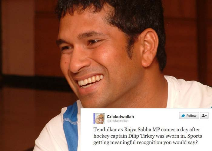 <b>Ayaz Memon</b>: Tendulkar as Rajya Sabha MP comes a day after hockey captain Dilip Tirkey was sworn in. Sports getting meaningful recognition you would say?
