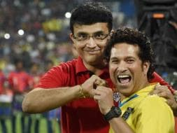 Photo : ISL Final: What Rivalry? Sachin, Sourav Bond Over Football