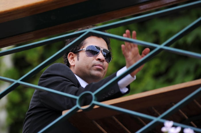 Sachin Tendulkar is pictured during the sixth day of the 2010 Wimbledon Tennis Championships at the All England Tennis Club in south-west London. (AFP Photo)
