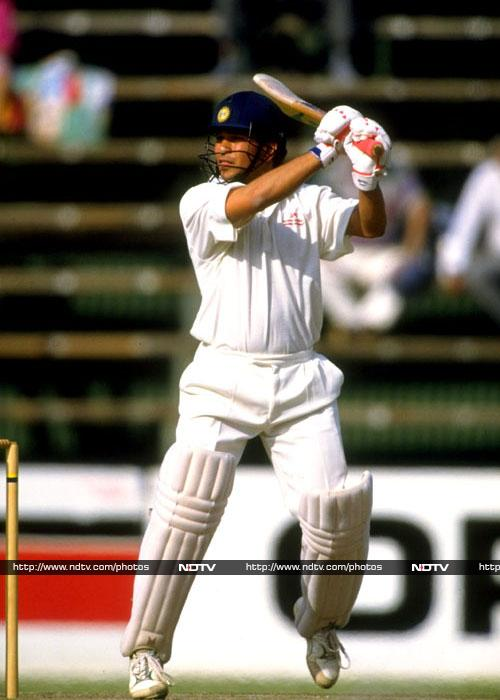 111 vs South Africa in 1992 Sachin scored his fourth century on November 28, 1992 against South Africa at the Wanderers Stadium in Johannesburg. Till then all his centuries had come playing outside India.