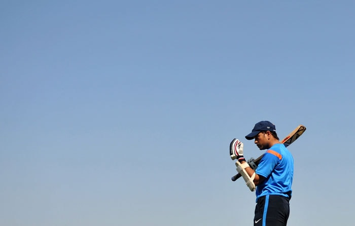 <b>I am the game.</b><br><br>An undaunted player, Sachin doesn't shy away from taking on the universe. (AFP Photo)