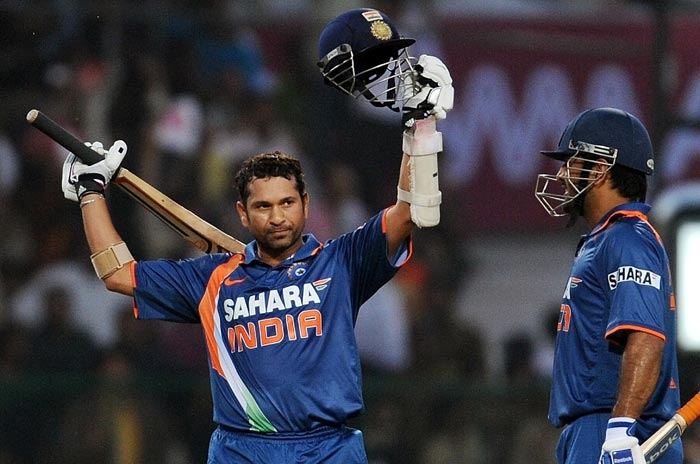 ODI double century: One-day cricket had to wait for 39 years for its first double hundred and it was appropriate that it was crafted by the best blade. Sachin scored an unbeaten 200 runs against South Africa in Gwalior in February 2010. With this knock, Sachin broke the record of the highest One-Day International score of 194 runs held jointly by Pakistan's Saeed Anwar and Zimbabwe's Charles Coventry. (AFP Photo)