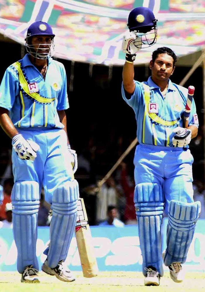 Among the eight players with over 10000 runs in ODIs, Sachin was the fastest to get to the mark. He took 266 matches and approximately 11 and half years since his debut to get there. Sourav Ganguly is close second with 272 matches.