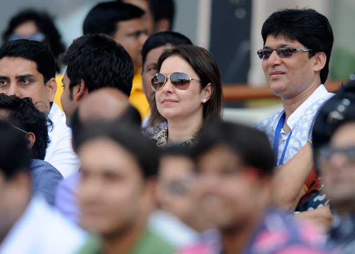 Anjali Tendulkar was in the stands to cheer her husband all through the day.