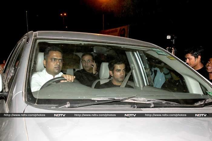 Gautam Gambhir, playing Ranji Trophy cricket currently, still has fond memories of playing with Sachin. Is that Virender Sehwag in the back seat? © Photo: Santosh Nagwekar