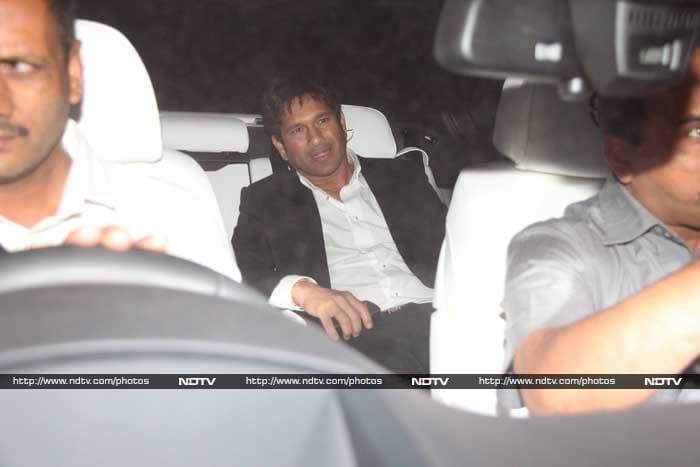 For his own party, Sachin was one of the first to arrive! © Photo: Santosh Nagwekar