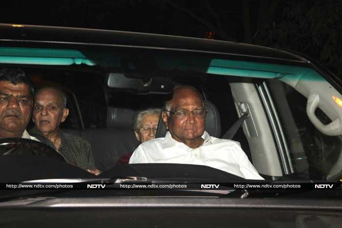 Former BCCI cheif and Mumbai Cricket Association Sharad Pawar makes his presence felt. © Photo: Santosh Nagwekar