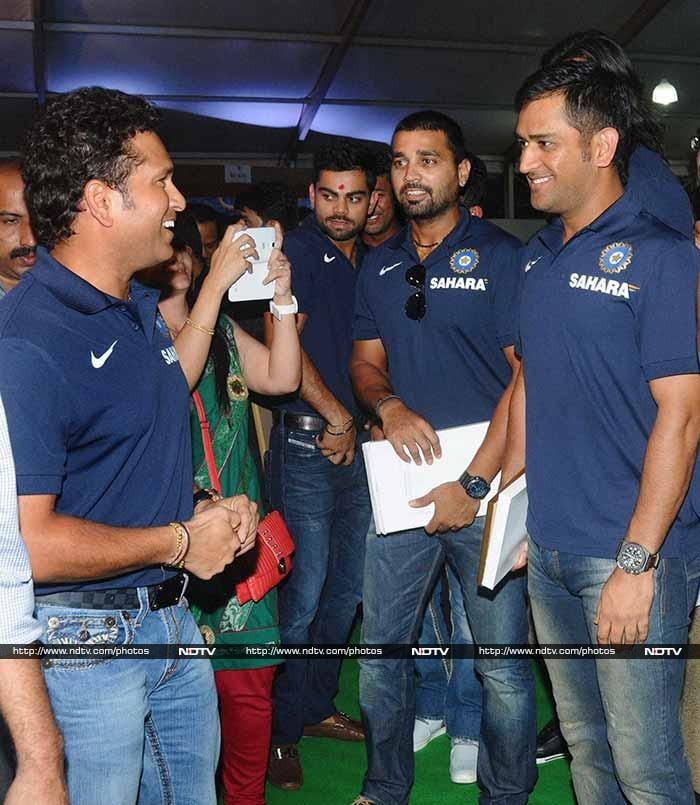 """On having a cricket facility named after him, Tendulkar said: """"When I walked in, it felt different. I am not used to this and feel very humbled."""" Tendulkar added the facility at Kandivili, which will be free of cost, will go a long way in helping budding cricketers hone their talent."""