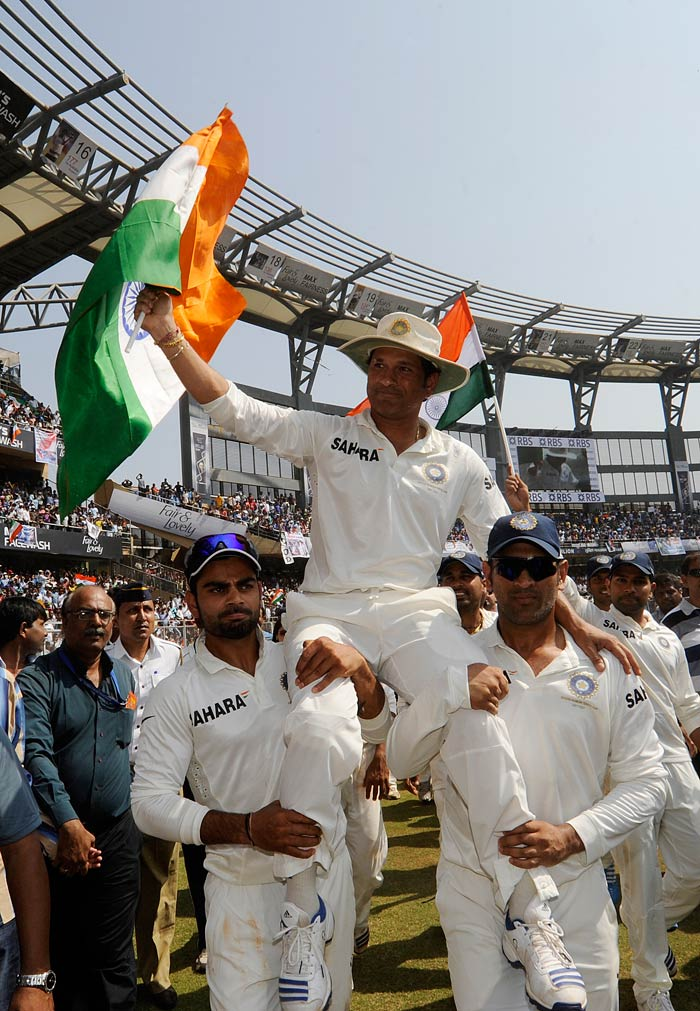Sachin will leave a big void but also says farewell with Indian cricket in safe hands.