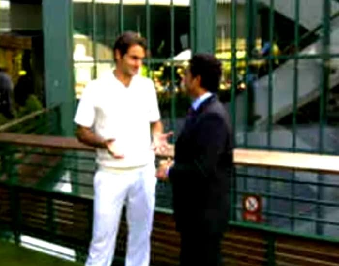 Both Federer and Tendulkar were seen in deep conversation once the match was over in Federer's favour. The two chatted for close to an hour.
