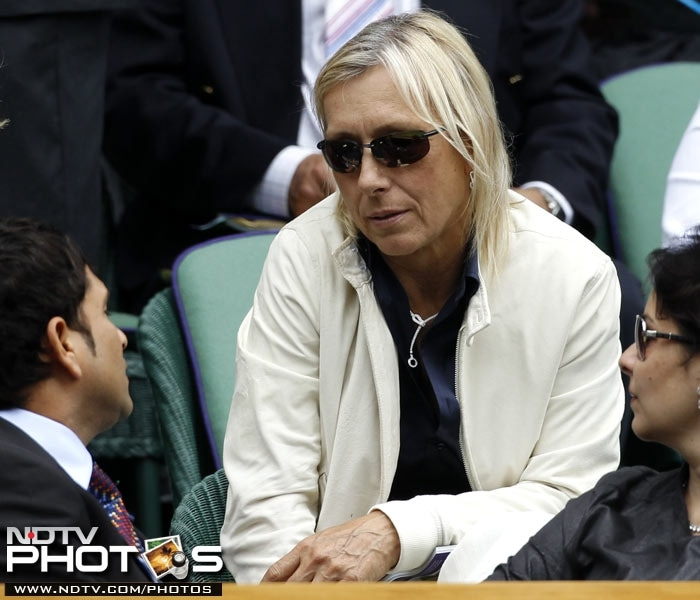 Here he speaks to another legend in Martina Navratilova, former World Number 1 and star tennis player.