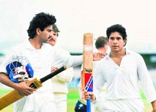 <b>April 24, 1989 - April 24 1991:</b><br><br> 11 Tests - 588 runs, Highest - 119, 1 century<br> Tendulkar finally opens his century account on August 14, 1990, hitting his first ton in only his 9th match. The then 17-year old's unbeaten 119 off 189 balls saves India from a defeat against England in the second Test at Manchester. <br><br> 13 ODIs - 292 runs, Highest-53, Wickets-2<br> 256 runs in 10 ODIs. He is still short of displaying his genius in the shorter format but gets his first half century, a 53-run inning against Sri Lanka at Pune. In the same game, he also picks up his maiden ODI wicket in the form of Sri Lankan opener Roshan Mahanama.
