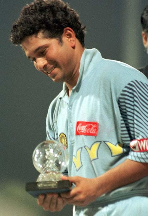 <b>April 24, 1989-April 24, 1999:</b><br><br> 68 Tests - 5177 runs, Highest - 179, 19 centuries<br> India and Pakistan play their first Test in nine years amidst massive security at Chennai. Tendulkar hits his 18th century, making an impressive 136 and playing on despite a bad back. He gets India agonizingly close to a victory but his departure with 17 runs still to get sees Pakistan clinch a thrilling 12 run win. On February 19 1999, completes 5000 runs in his 67th Test while playing against Pakistan at Eden Gardens in Kolkata. <br><br> 211 ODIs - 7801 runs, Highest - 143, 21 centuries, Wickets-78<br> Excellent year for Tendulkar as he musters up 1145 runs in 23 ODIs with 6 centuries. In his 196th ODI, on July 7, 1998, he accomplishes the 7,000-run mark while facing Sri Lanka at Colombo.