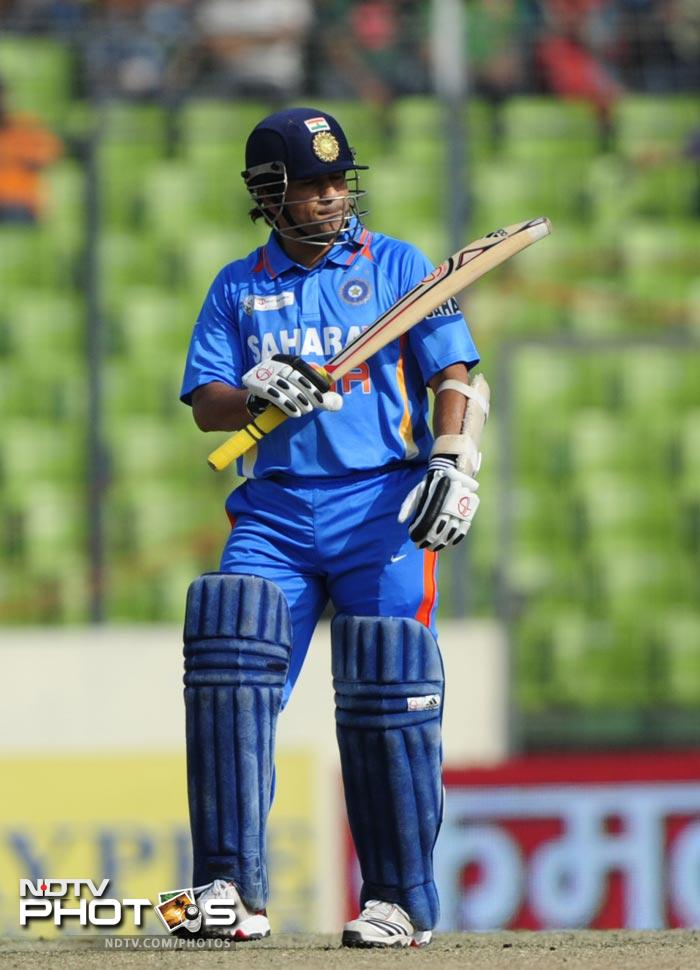 Tendulkar soon reached his 96th ODI fifty and was certainly setting himself up for a big one.