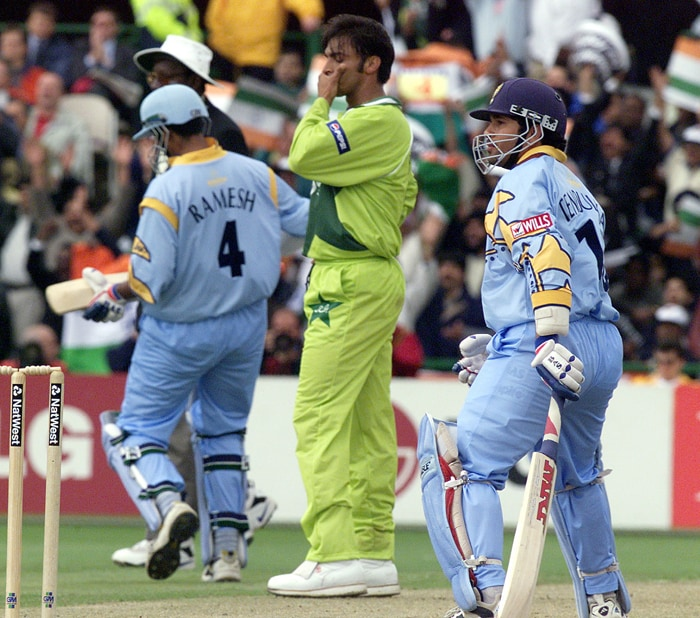 <b>Year 2006, 74th Century:</b> Sachin's 39th century came against Pakistan on February 6, 2006 when he scored a hundred runs playing at Arbab Niaz Stadium in Peshawar. It is ironical that Sachin's last three centuries came against Pakistan and India still lost those three matches.(AFP Photo)