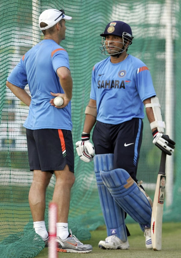 <b>Year 2006, 75th Century:</b> Tendulkar had slowed down by now and so had his centuries. His 40th century came on September 14, 2006 at the Kinrara Academy Oval in Kuala Lumpur against West Indies when he hit an unbeaten 141 runs.