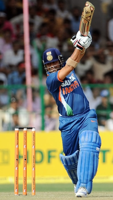 <b>Year 2010, 93rd Century:</b> Sachin Tendulkar became the first batsman ever to score 200 runs in the history of the 50-over game. With this knock, Sachin broke the record of the highest One-Day International score of 194 runs held jointly by Pakistan's Saeed Anwar and Zimbabwe's Charles Coventry during his knock of 46th ODI hundred.