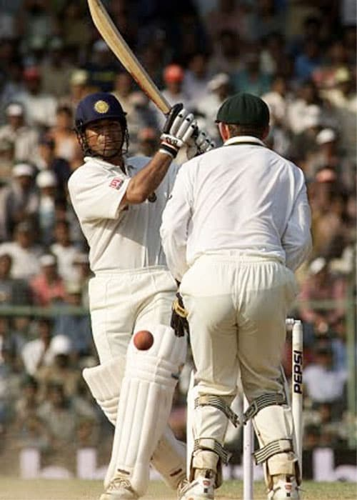 <b>Year 2001, 52nd Century:</b> Sachin's 126 runs on March 20, 2001 were a major contribution in India's win against Australia at the M.A. Chidambaram Stadium in Chennai.