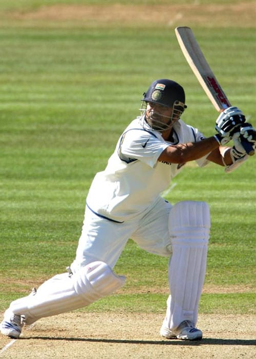 <b>Year 2001, 57th Century:</b> Even though India lost the match to South Africa, fans were still cheering Sachin who scored 155 runs.
