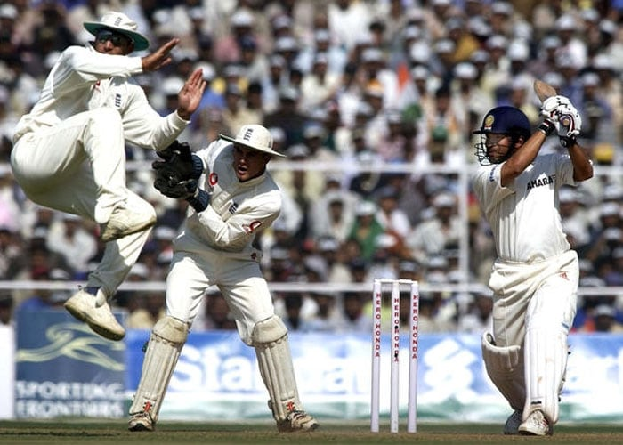 <b>Year 2001, 58th Century:</b> On December 13, 2001, Tendulkar at the Sardar Patel Stadium in Motera played a fine innings against England and scored 103 runs which helped India draw the match.