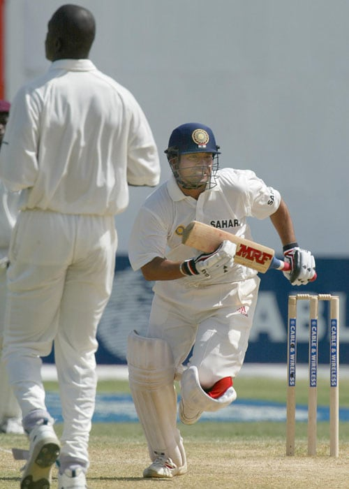 <b>Year 2002, 60th Century:</b> Sachin gave himself an early birthday present when on April 20, 2002, he equaled Sir Don Bradman's 29 Test tons. It was time for a double celebration as India also won that match against West Indies at Queen's Park Oval in Port of Spain.