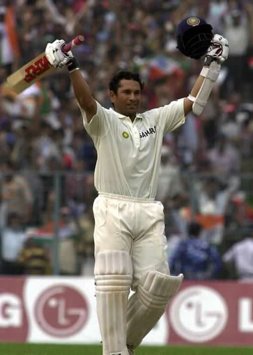 <b>Year 2002, 64th Century:</b> Another big score by Sachin. He made 176 runs at the Eden Gardens in Kolkata on November 3, 2002 playing against the visiting West Indians.<br><br> He also attained the feat of becoming the first cricketer to make 14,000 Test runs during the same match.<br><br> Yet another feather in the master blaster's cap!
