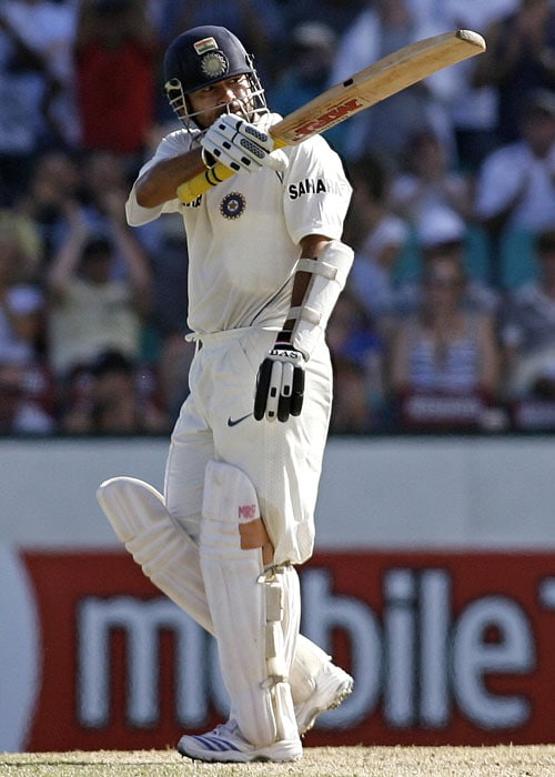<b>Year 2008, 79th Century:</b> Sachin started the new year on a high Down Under. During the second Test against Australia in Sydney, Sachin made an unbeaten 154 runs as his 38th Test century. However, some umpiring blunders gave Australian an edge over the Indians in the match that was well in visitors' grasp.