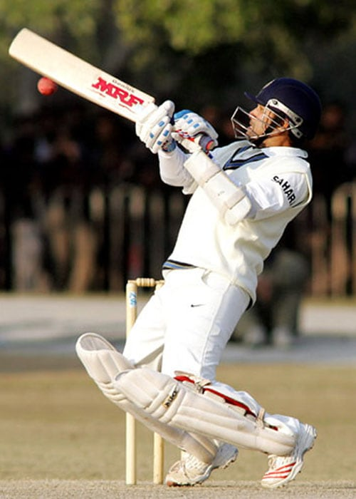 <b>Year 2008, 82nd Century:</b> Sachin got his 40th ton at Nagpur during the fourth Test against Australia. The four-match series was aready in India's pocket, but Sachin's innings of 109 runs helped India put up a good total. India won the match by 172 runs and clinched the series 2-0 to lift the Border-Gavaskar Trophy. During the same series, Sachin surpassed Brian Lara's record of maximum Test runs. It came during the second Test at Mohali.