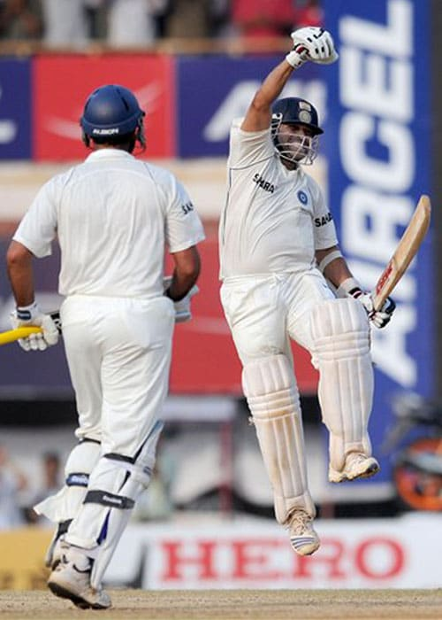 <b>Year 2008, 83rd Century:</b> Many called this knock as Sachin's one of the best Test knocks. After condemnable terror attacks on Mumbai, India played England in Chennai. And the Mumbaikar made that match a historic one. If Virender Sehwag set the stage, Sachin along with Yuvraj Singh chased the total with an hour to spare for the close of the match. He made unbeaten 103 runs and dedicated his 41st ton to all his countrymen.