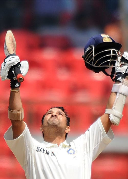 <b>Year 2010, 95th Century:</b> Sachin's 49th Test century was one that reinforced his unprecedented mastery of the game. The Cricketer of the year showed just why he was given the award as he went on to score the sixth double ton of his career in the same innings. It was also Sachin's 11th Test hundred against Australia. Having missed a century by 2 runs in the first Test of the tour in Mohali, he made up by bringing up his ton in Bangalore. He also attained the feat of becoming the first cricketer to make 14,000 Test runs during the same match. Yet another feather in the master blaster's cap!