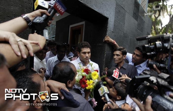 Sachin Tendulkar said that the move into his new home was an emotional moment for him. (AP Photo)