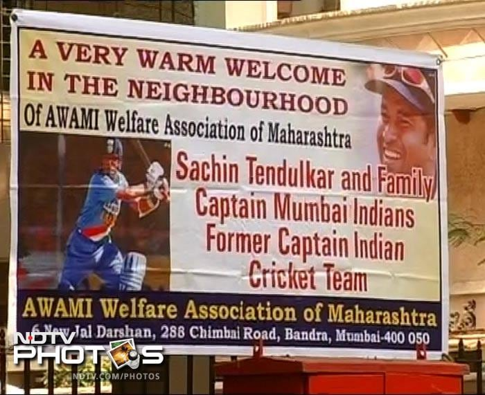 Residents of the neighbouring places get set to welcome the Master Blaster.