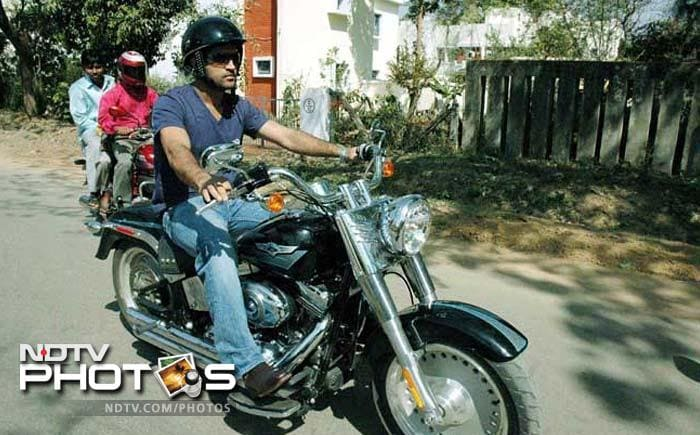 <b>MS Dhoni:</b> Dhoni is even passionate about bikes than cars and has about 22-23 bikes in his collection, which he plans to expand further. His Harley Davidson is known to get a lot of his attention.