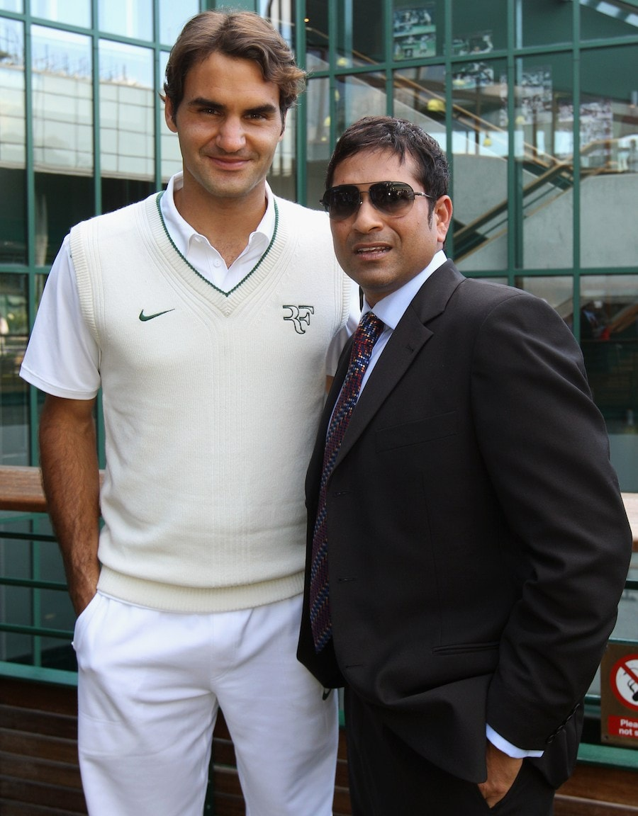 During the Wimbledon in 2011, he met Swiss ace and former World No 1 Roger Federer. (AFP Photo)